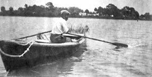 rowing to Caladesi Island